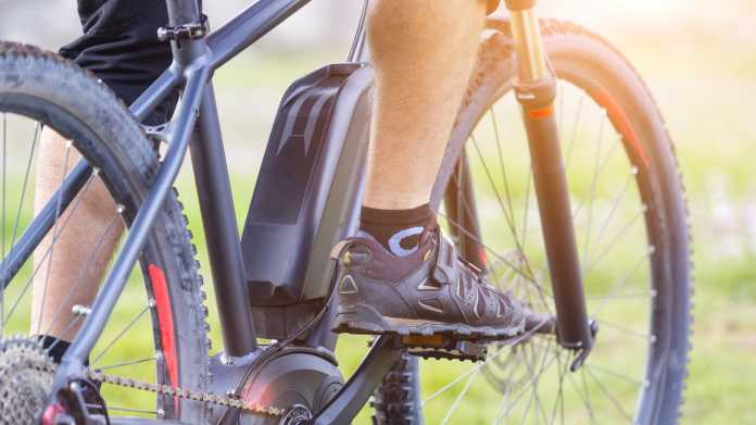 E-Bike in Aktion