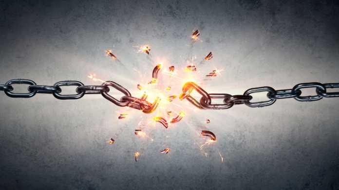 gesprengte Blockchain