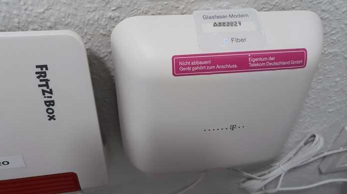 Glasfaseranschluss der Deutschen Telekom.
