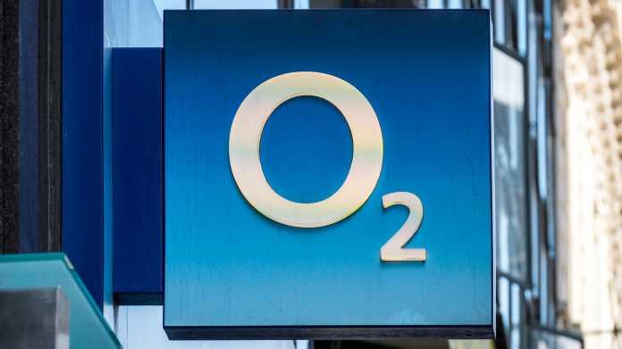O2-Logo auf einem Schild