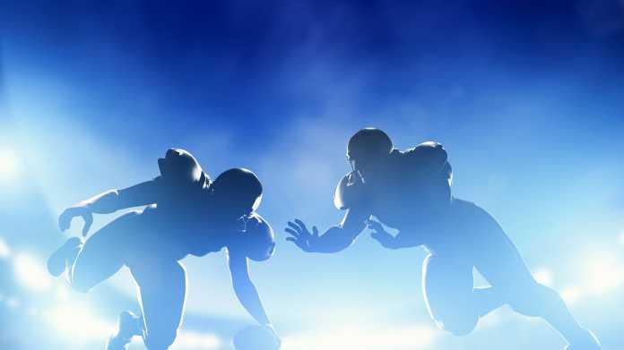 Football-Spieler in Aktion