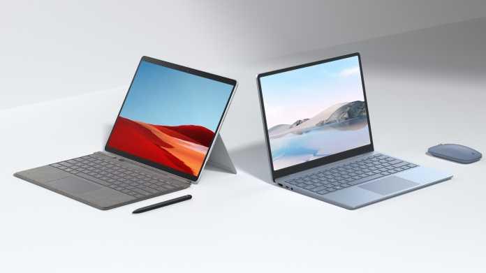 Microsofts neue Surface-Hardware: überarbeitetes Pro X, günstiger Laptop Go