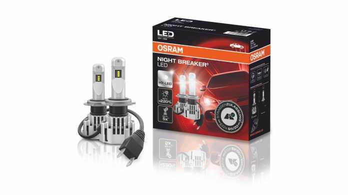 Zmodyfikowana lampa LED firmy Osram zastępuje lampy H7