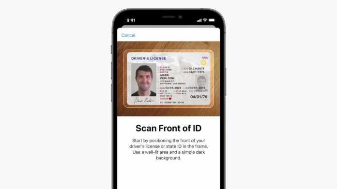 Apple Wallet mit Führerschein