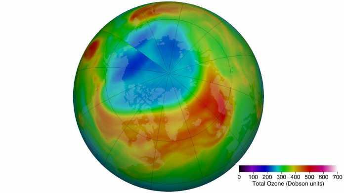 Ozonschicht über der Arktis so dünn wie noch nie im März