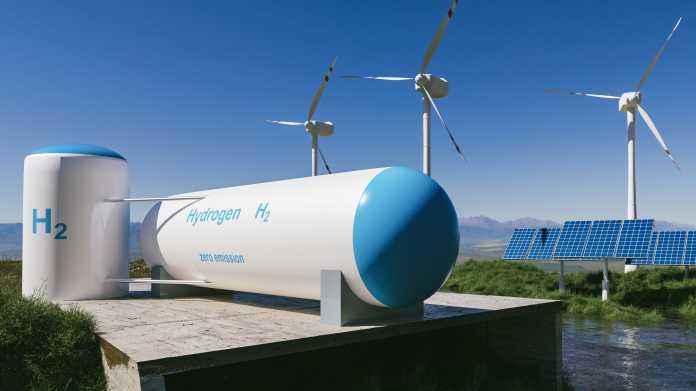 Erzeugung grünen Wasserstoffs bei schönem Nordwetter