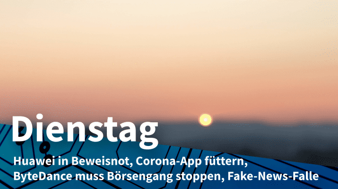 Dienstags-Aufmacher: Sonnenaufgang im Hintergrund