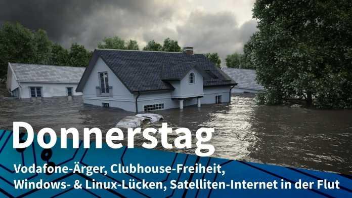 Häuser im Hochwasser