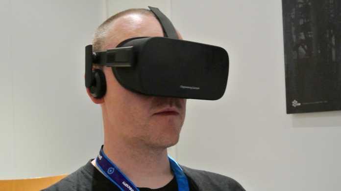 Fast Final: Die aktuelle Oculus Rift punktet mit leichtem Sitz und kräftig leuchtendem Display, nur die Lüftung könnte noch verbessert werden.