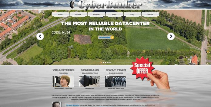 Screenshot Cyberbunker-Website