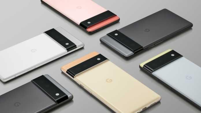 Handys Pixel 6 und Pixel 6 Pro von hinten