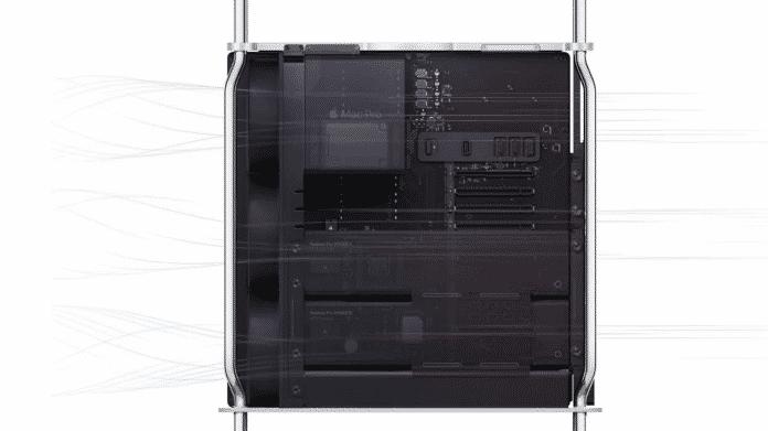 Rückansicht eines Mac Pro