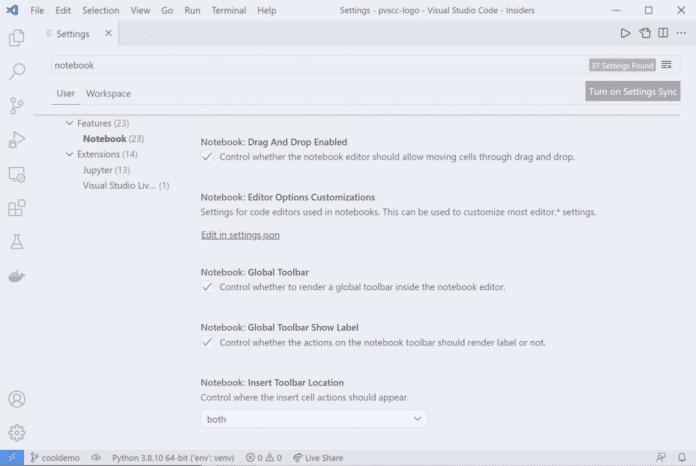 August-Release der Python Extension für VS Code: UI-Anpassungsmöglichkeiten