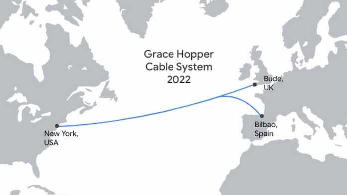 Cloud unter Wasser: Google baut Grace-Hopper-Unterseekabel nach Europa