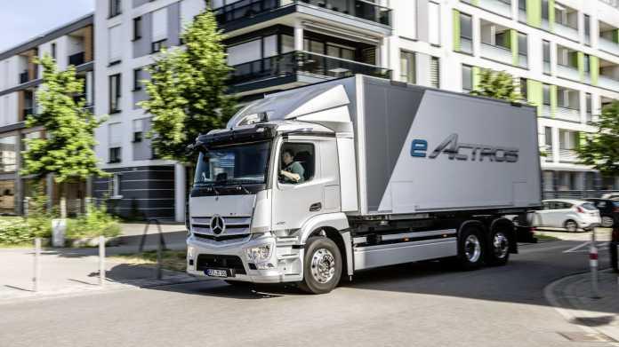 Mercedes eActros camion elettrico