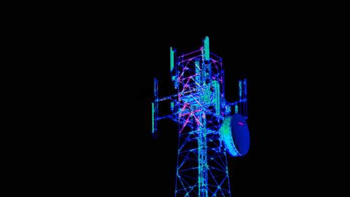 Illustration Mobilfunkmast mit diversen Antennen