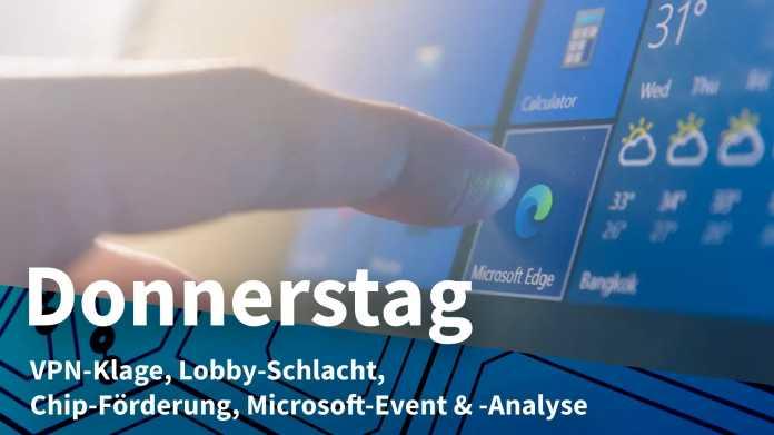 Windows: Finger weist auf Microsoft Edge