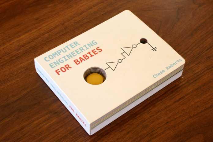 """Ein weißes Buch mit der Aufschrift """"Computer Engineering for Babies"""""""