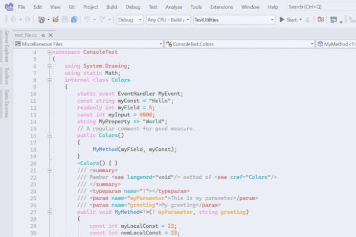 Eva Theme für Visual Studio