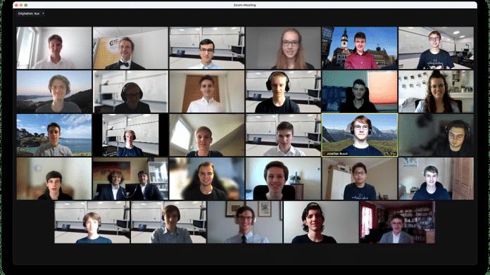 Videokonferenz mit vielen Teilnehmern