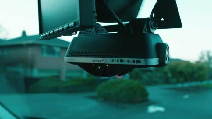 Netradyne-Kamerasystem im Amazon-Lieferwagen