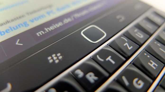 Detailaufnahme eines Blackberry Classic