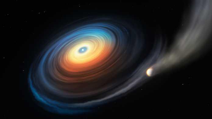 Astronomie: Weißer Zwergstern saugt riesigen Exoplaneten auf