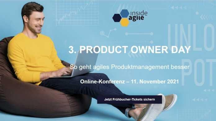 Dritter Product Owner Day am 11. November 2021 von Heise, Online-Event, Scrum, Kanban, Leadership, Produktmanagement