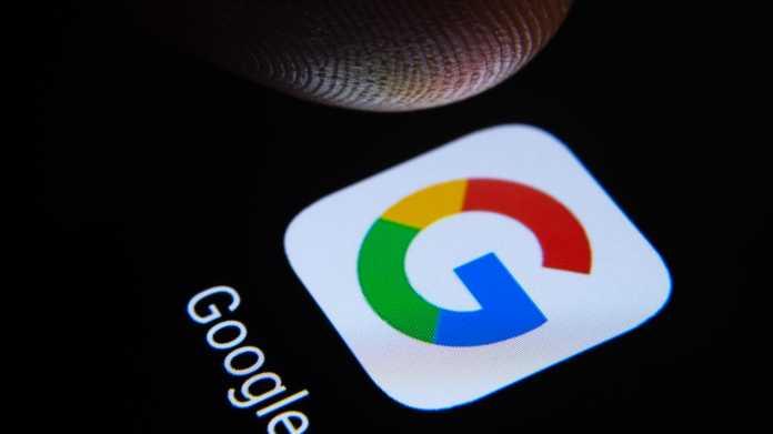 Google-Logo auf Touchscreen