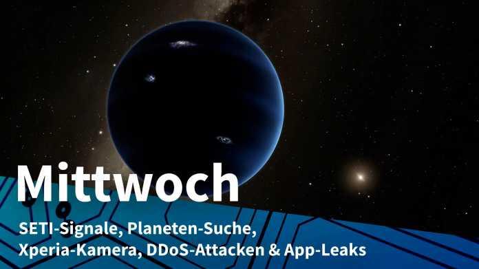 Planet vor Sternenhimmel