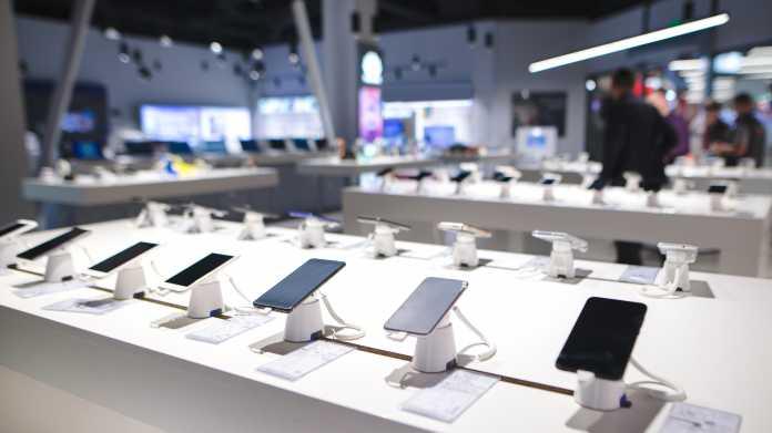 Ausgestellte Handys