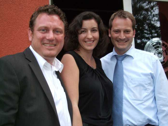 Die Initiatoren des Computerspiel-Wettbewerbs für Abgeordnete: Jimmy Schulz (FDP), Dorothee Bär (CSU), Manuel Höferlin (FDP) (v.l.n.r.)