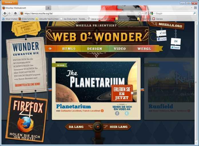 Mozillas Webkabinett
