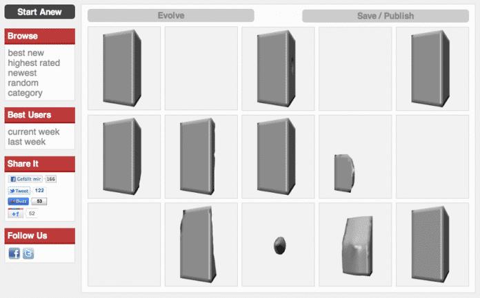 Screenshot Endless Forms