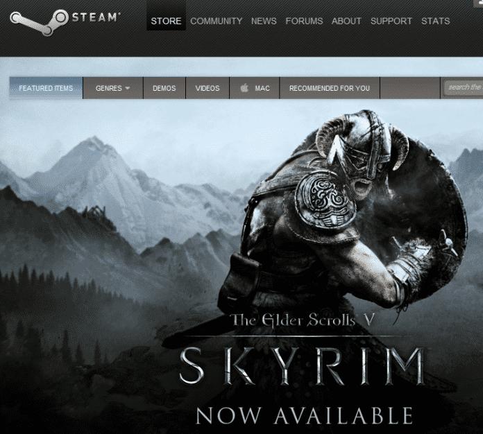 Über Steam wird auch das neue Skyrim verteilt