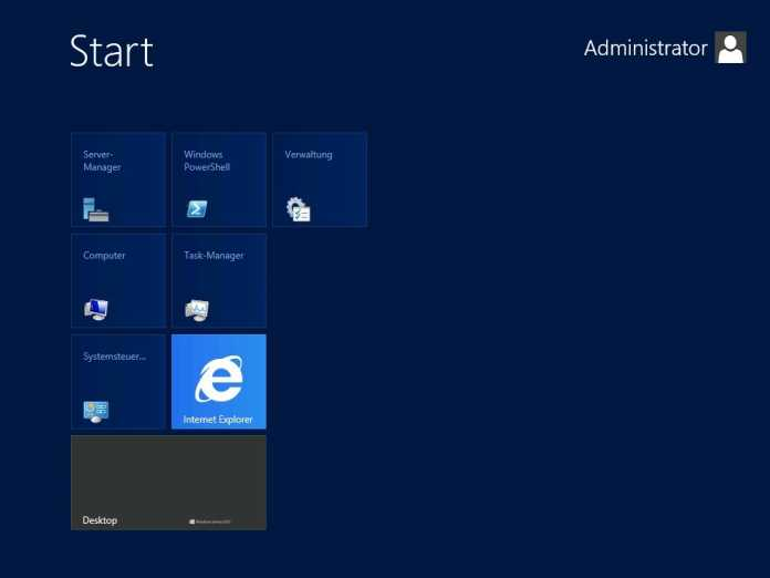 Die Metro-Oberfläche auch für den Admin eines Windows Server 2012