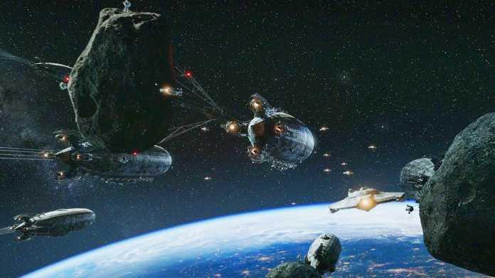 Raumschlacht über der Erde