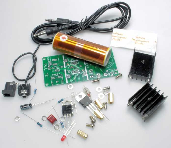 Aufbauanleitung für den Bausatz der Mini-Tesla-Spule   Make