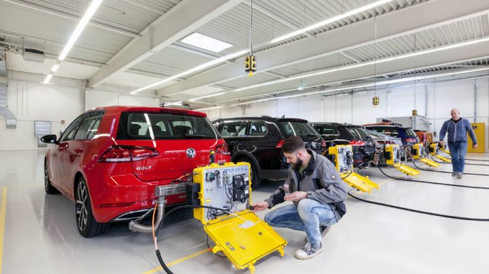 WLTP-Messung bei VW