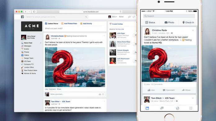 "Facebook testet ""Facebook at Work"""