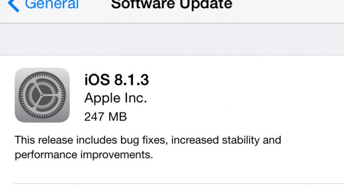 Apple stellt iOS 8.1.3 zum Download bereit