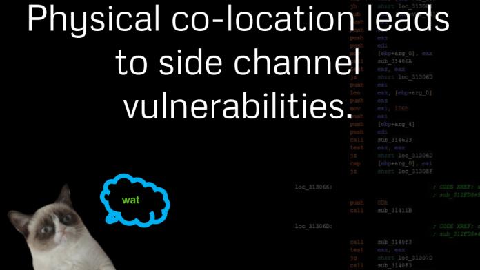 Side-Channel-Angriffe über löchrige VMs
