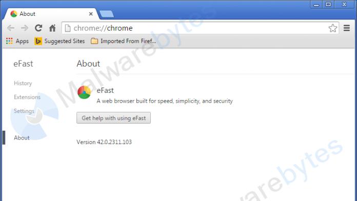 Dreiste Adware: eFast Browser ersetzt Webbrowser
