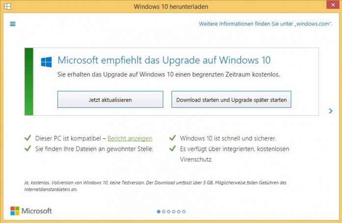 "Verbraucherzentrale mahnt Microsoft wegen Windows-10-""Zwangsdownload"" ab"