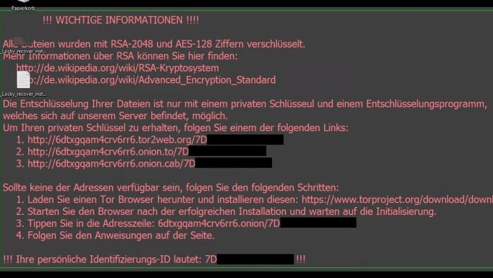 Krypto-Trojaner Locky wütet in Deutschland: Über 5000 Infektionen pro Stunde
