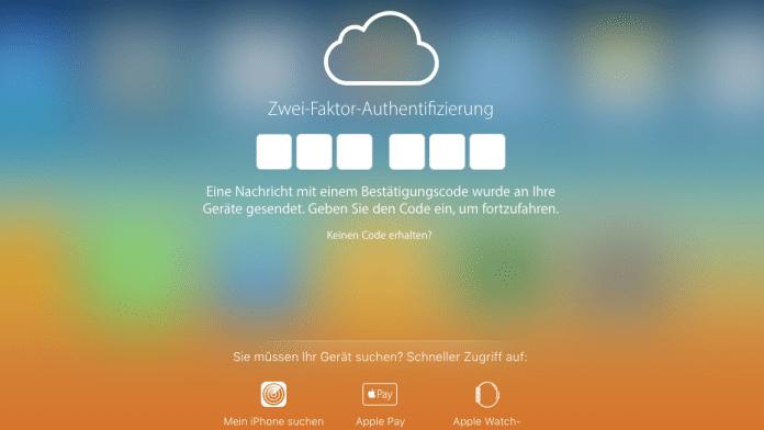 iCloud.com Zwei-Faktor-Authentifizierung