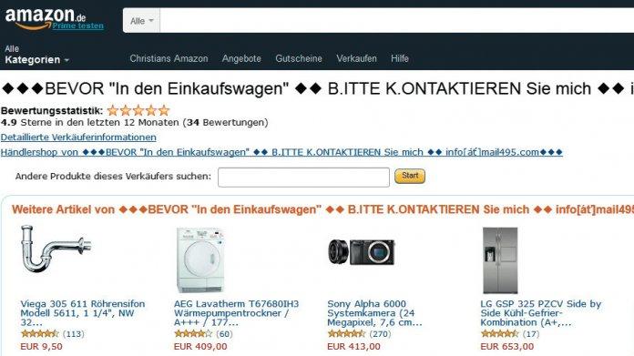 Abzock-Masche auf Amazon.de läuft seit rund vier Jahren