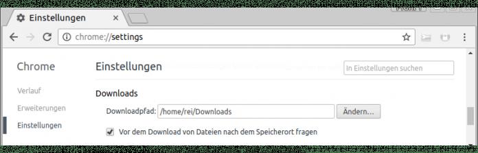 Aktiviert man diese Option, fragt Chrome vor Downloads nach.