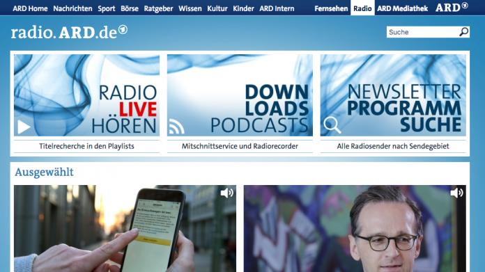 ARD kündigt Mediathek für Wortinhalte an