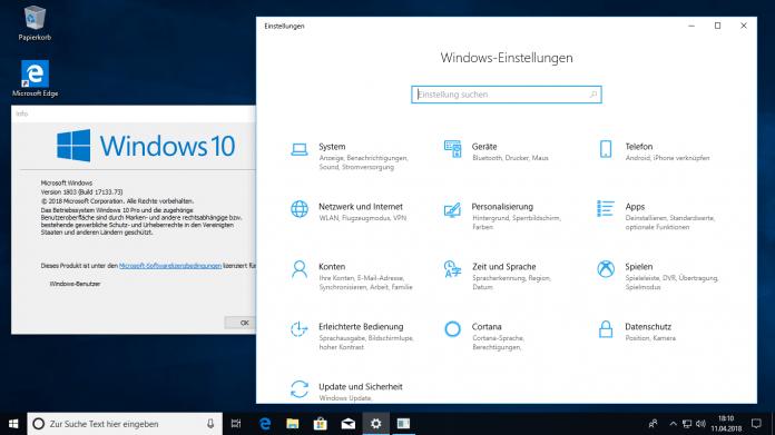 Windows 10: Version 1803 kommt am Montag – aber noch nicht als Update